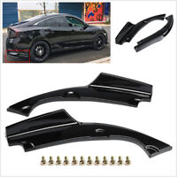 2Pcs Car Rear Bumper Splitter Spoilers Aprons Anti Scratch For 16-18 Honda Civic