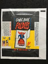 Topps 1966 Comic Book Foldees 5c Gum Card Wax Wrapper - Magic Magnet Set Variant