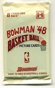 1 PACK 2009-10 BOWMAN 48 BASKETBALL STEPHEN CURRY RC HARDEN RC RUSSEL AUTO