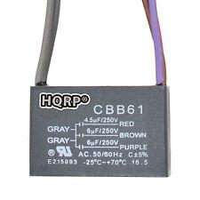 HQRP Capacitor para Hampton Bay de Ventilador 4.5uf+6uf+6uf, 5-Alambres / CBB61