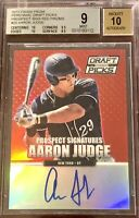 Aaron Judge 2013 Panini Prizm #'d 1/100 auto autograph ROOKIE card RC BGS 9 MINT
