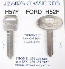 Ford 10 CUT Keys OEM Nickel NOS FORD