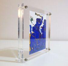 "Silkscreen prints by Alekos Fassianos in a Plexiglass frame  - "" Chariot race """