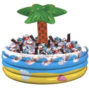 Inflatable Palm Tree Cooler Tropical Theme Beach Pool Hawaiian Party