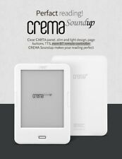 "NEW CREMA SOUND UP WHITE AUDIO 8GB WIFI EBOOK READER 6"" Display 1700mAh"