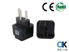3 x  EU UK to Swiss Switzerland Travel Adapter Maldives Liechtenstein Power Plug