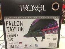 04-398 Troxel Fallon Taylor Turquoise Floral Riding Casque Nouveau