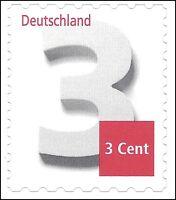 Ergänzungsmarke 3 Cent - skl. aus Markenset - Mi.Nr. 2967 - VARIANTEN