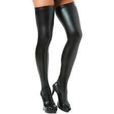 Woman's Faux Leather PVC Stockings Sexy Wild & Leggings Hold Ups Fetish Fashion