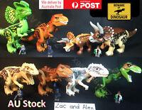 XL Dinosaur ! Tyrannosaurus Park Trex fit Jurassic world Lego toy Dinosaurs