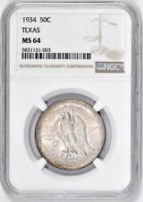 1934 Texas Commemorative Half Dollar : NGC MS64