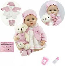 55CM Reborn Baby Silikon-Vinyl Puppe Weich Kinder Handgefertigt Mädchen