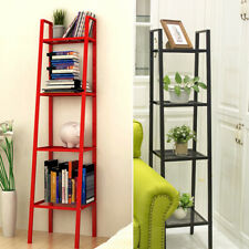 4Tier Ladder Shelf Unit Metal Bookshelf Display Rack Plant Stand Storage Holder