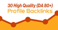 30x Profile backlinks (da 80+) 30 high da profile backlinks SEO Ranking Agentur