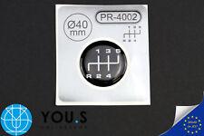 1x PALANCA DE CAMBIOS Pegatina Ø 40mm 5 MARCHAS Emblema para Pomo 3d NUEVO