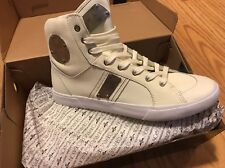 Creative Recreation Mens Fenelli Vintage Silver Leather Fashion Sneakers 8M