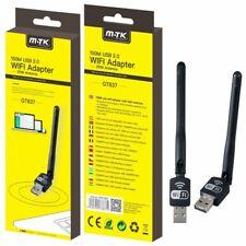 150Mbps Wireless USB WiFi LAN Adapter Long Range 2dBi Antenna Desktop Computer