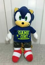 """💜 Build a Bear Sonic the Hedgehog Plush 18"""" w/ Game On Clothes Outfit 💜"""