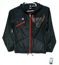 NEW Adidas Mens Chicago Bulls Rhythm Jacket Rare Black Limited Edition Size L