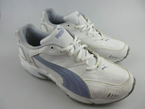 Girl's PUMA Sz 7 US Runners White Violet ExCon Shoes Junior   3+ Extra 10% Off