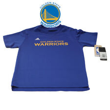 NBA Golden State Warriors Basketball adidas Youth Boys Large Blue Gold Shirt