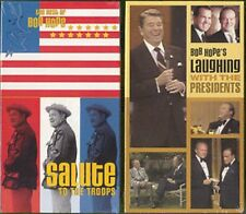 BOB HOPE - SALUTE.TROOPS & LAUGH. WITH PRES - 2 VHS -SS