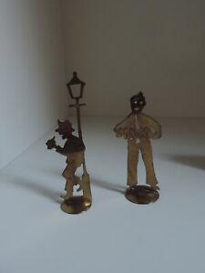Tischkartenhalter,Figuren,Metall,Messing,männlich