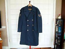 Vtg 1950 Korean War US Air Force Blue 85 100% Wool Overcoat 37R 28oz USAF SSGT