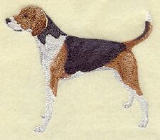 "9 x 12"" Embroidered Horizontal Pre-Order Quilt Bllock - American Fox Hound"