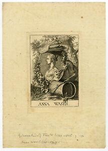 Antique Master Print-PORTRAIT-ANNA WASER-PAINTER-SWITSERLAND-Fussli-1770