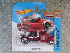 Hot Wheels 2015 #002/250 Turbine Time Camión Taxi Plataforma Rojo Fundición