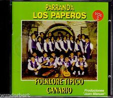 """CD """" Parranda Los PAPEROS - Vol. 3 - Folklore Tipico Canario """""""