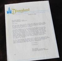 Disneyland Archive Document 1963 Lost in Space TV Robot ANNOUNCER Walt Disney