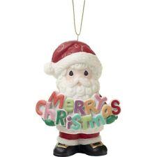 $ New Precious Moments Ornament Merry Christmas Annual Santa Figure Decor Hang