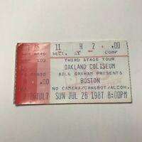Boston Oakland Coliseum Arena Concert Ticket Stub Vintage July 1987