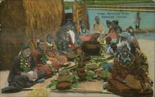 Hawaii HI Luau Native Woman c1915 Postcard
