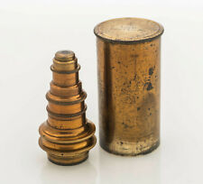 """Antique 1/16"""" Immersion brass microscope lens c. mid to late 1800's"""