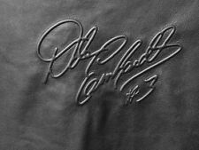"Rare Embossed Dale Earnhardt # 3 Signature Black Cow Hide Leather 36"" x 36"""