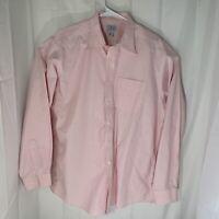 LL Bean Mens 100% Cotton Button Down Light Pink Size Large