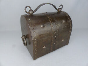 Antique Hugo Berger Goberg Arts & Crafts Wrought Iron Jewelry Valuables Box 1910
