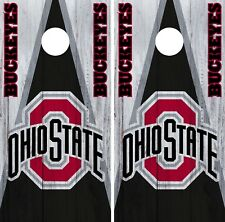 Ohio State Buckeyes Cornhole Wrap NCAA College Board Skin Set Vinyl Decal CO725