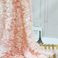 10PCS Artifical Hydrangea Silk Flower Vine Hanging Garlands Wedding Home Decor