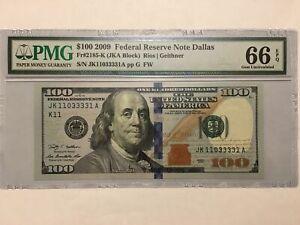2009 $100  Fr 2185-K PMG 66 EPQ Superb Gem Uncirculated