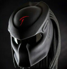 Custom Predator Helmet Black Top Symbol Red (APPROVED DOT/ECE)