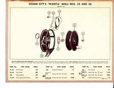 Vintage Prints Lot (3) Ocean City Fishing Reels Wanita 1600Model A 1825