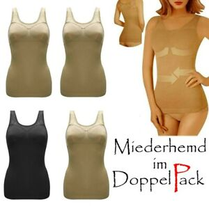 - Shapewear Damen Bauch-Weg Unterhemd 44041 SLEEX Figurformendes Damen Unterhemd mit Support