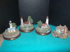 """Thomas Kinkade """"Light Houses"""" Set Of 3 Lighted & Plus 1)""""Swanbrooke Cottage""""Nice"""