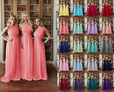 New Long Chiffon Formal Evening Party Ball Gown Prom Bridesmaid Dresses size6-24