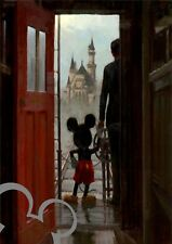 DISNEY Mickey Mouse and Walt Disney A4 art print, photo, picture, nursery, gift