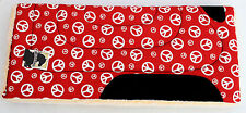Red Peace Sign Western Red Horse Pad Saddle Pad Western Pad Red Horse Blanket